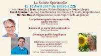 Soirée spirituelle le 12 avril 2017 de 18h30 à 22h